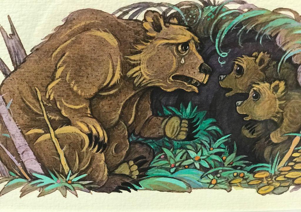 9. Составить по иллюстрации к сказке Волк и семеро козлят 3-4 ... | 722x1024